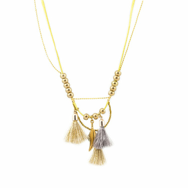 Lilian : Collier long cuir