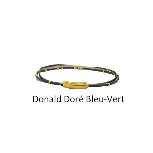 Donald Doré: Choker leather neck collierdonalddorebleuvert