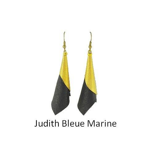 Judith: Earrings leather bouclesdoreillesjudithmarine