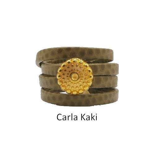 Carla: Leather ring baguecarlakaki
